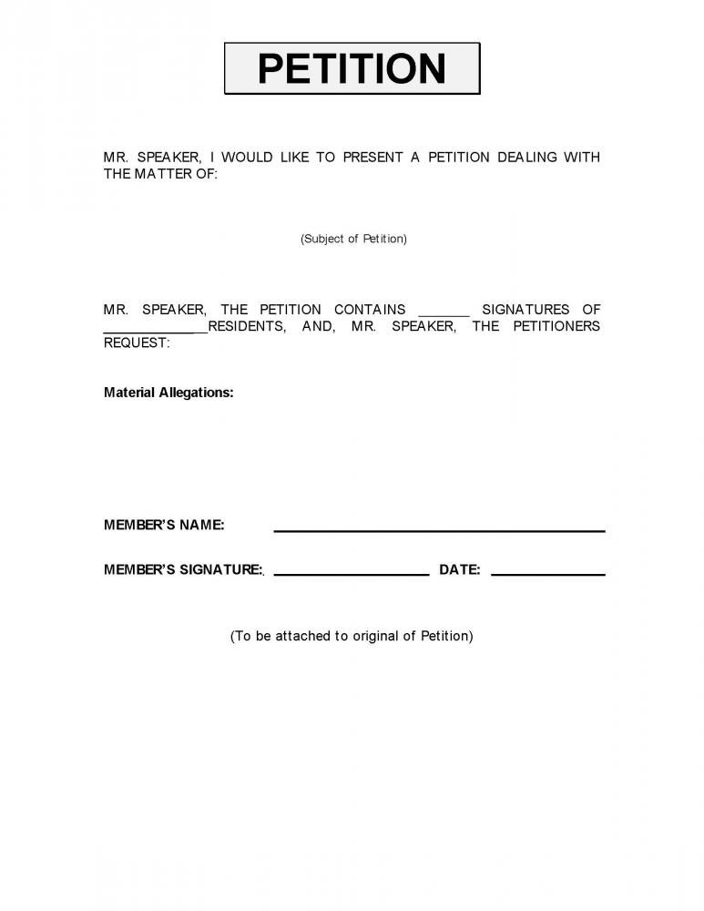 how to write a petition paper