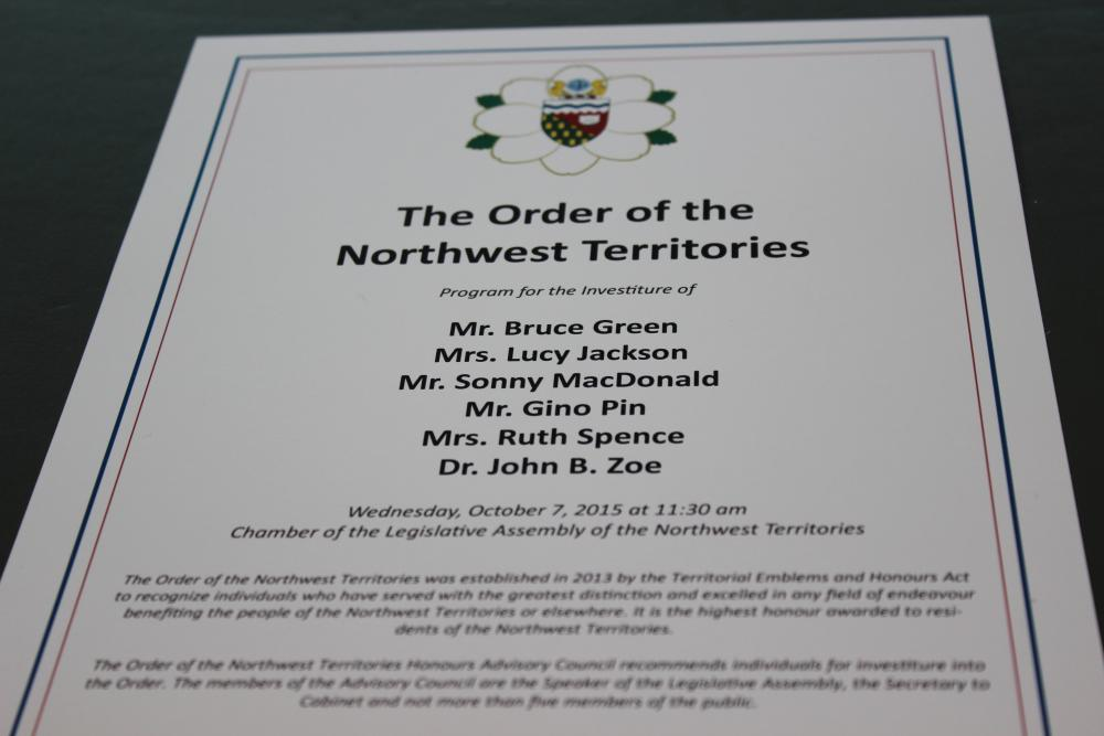 2015 Order of the NWT inductee
